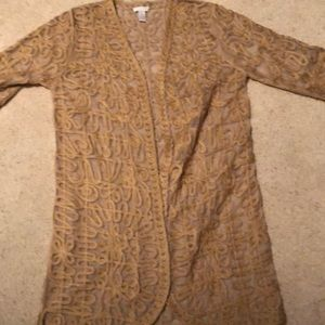 Chico's embroidered jacket size 8